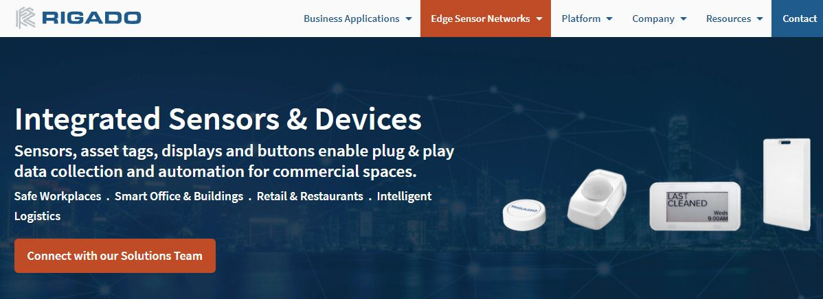 Rigado integrated sensors and devices