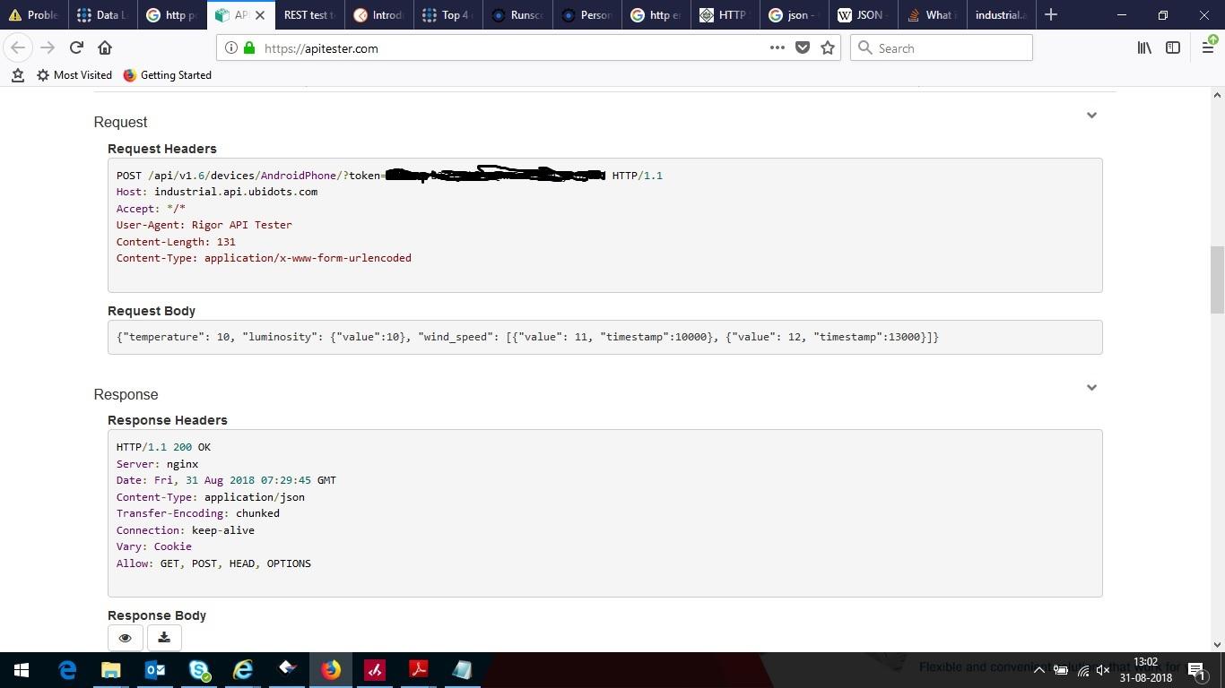 POST HTTP request - Ubidots API - Ubidots Community